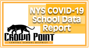 Image for the NYS COVID-19 School Data Report. Click the link then look up your School District in NYS.